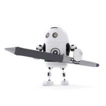 robot che scrivono