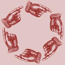 scaricabarile girotondo di mani che si indicano l'una con l'altra