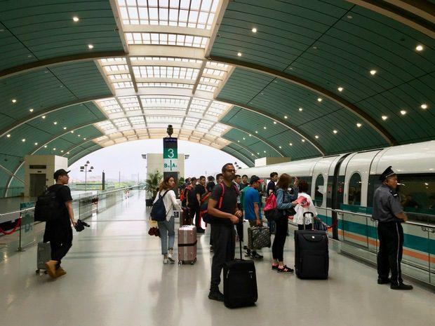 La stazione del Maglev a Shanghai