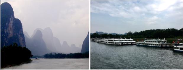 IL fiume Li è molto cambiato tra il 2005 e il 2019